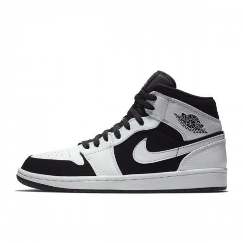 Jordan 1 Retro Mid White Black 554724-113
