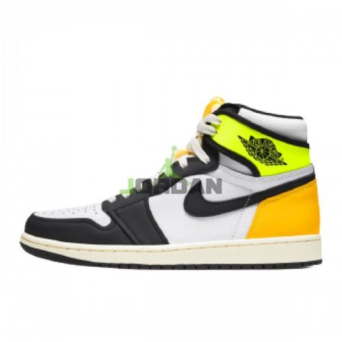 Jordan 1 Retro High White Black Volt University Gold 555088-118